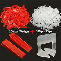 400pcs Tile Leveling Plastic Spacers Tiling Clips Wedges Tools