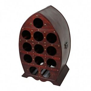 Botellero-Para-Vino-Estilo-Colonial-12-botellas-madera-Estanteria-soporte