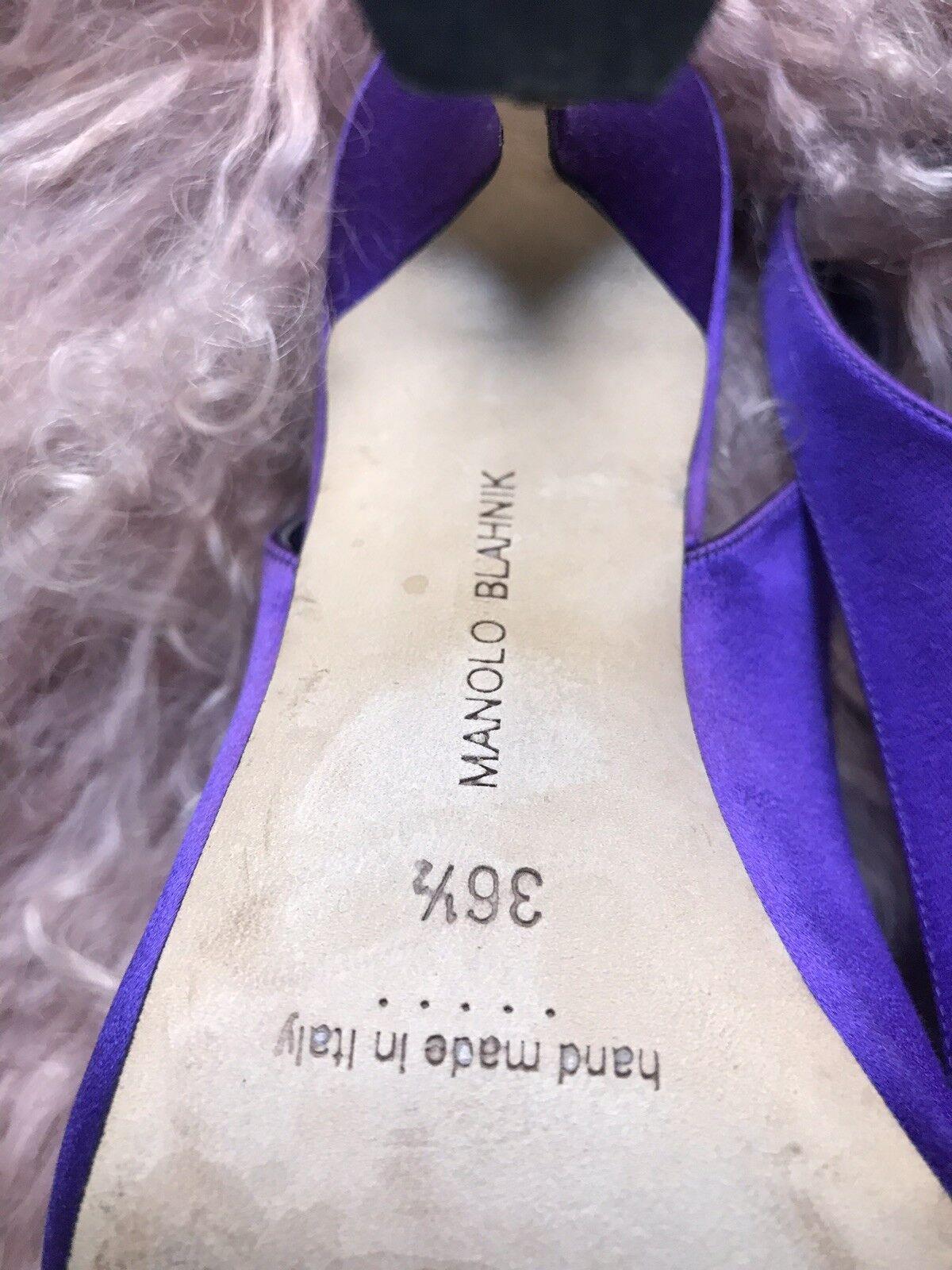 Manolo Blahnik embellecido embellecido embellecido Bombas Charol (tamaño 36.5) 310d9c