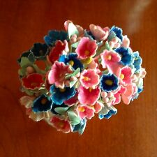 VTG Millinery Flower Forget Me Not Bunch Blue for Hat Wedding Hair Crown B3