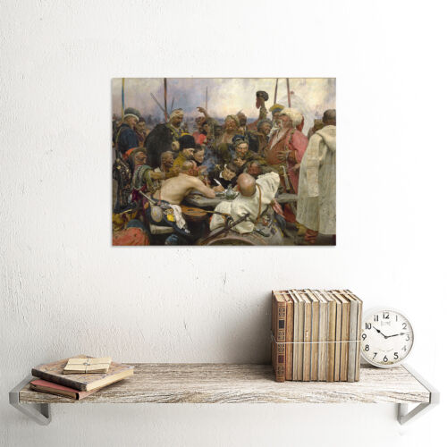 REPIN COSSACKS OLD MASTER ART PAINTING PRINT 12x16 inch POSTER ART 1378OM