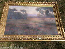 William Dorsey California Landscape Oil Painting,Large Field,wild flowers,trees