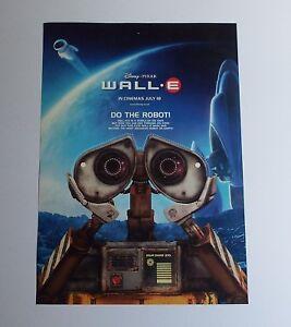 Wall E 2008 Original Uk Mini Quad Cinema Poster Double Sided Poster Ebay
