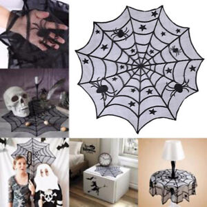 Halloween-Props-Black-Lace-Spiderweb-Curtain-Tablecloth-Window-Hanging-Decor