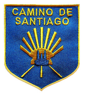 PARCHE-bordado-en-tela-CAMINO-DE-SANTIAGO-EMBROIDERED-PATCH