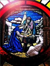 """*Postcard-""""The Nativity...on Stained Glass""""   ...Classic-"""