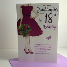 ICG Special Granddaughter Age 18 18th Birthday Card Dress Shoes Flowers 8221