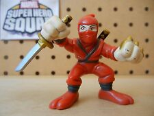 Marvel Super Hero Squad RARE HAND NINJA Red from Wave 8 Samurai Wolverine Pack