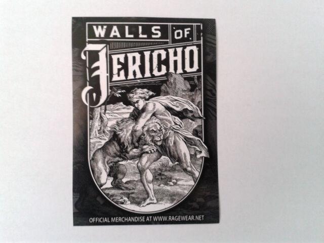 1 Aufkleber/Sticker - WALLS OF JERICHO