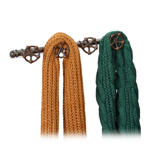 Wandgarderobe industrial Hakenleiste Gusseisen Kleiderhaken Pipeline Garderobe