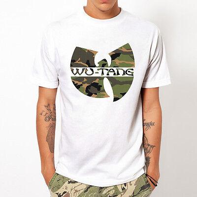 WU TANG CLAN-Camo rap hip hop music party gift design white t-shirt