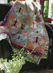 Summer's A-flutter Quilt Pattern Pieced/Applique MS