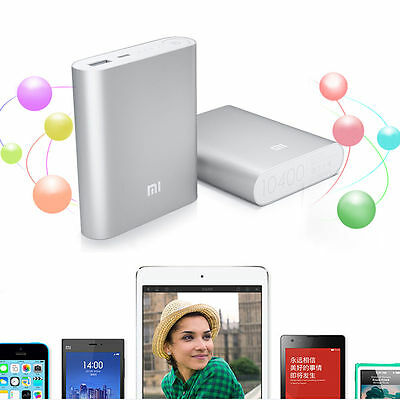 Sliver MI 10400mAh Universal Xiaomi USB Power Bank Battery Charger