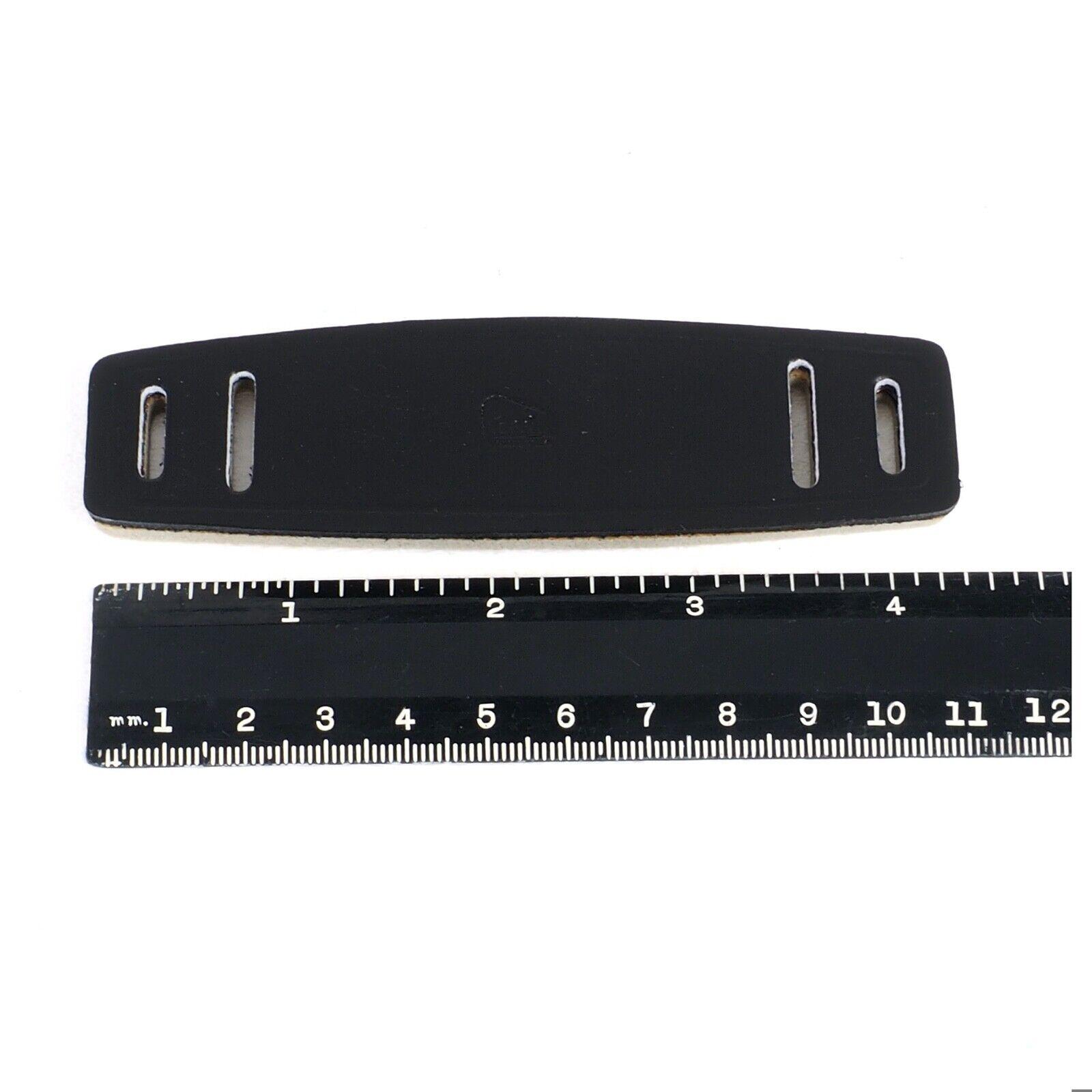 ^ NOS Perrin Black Supple Leather Neck Strap Pads for Cameras, Binoculars etc!