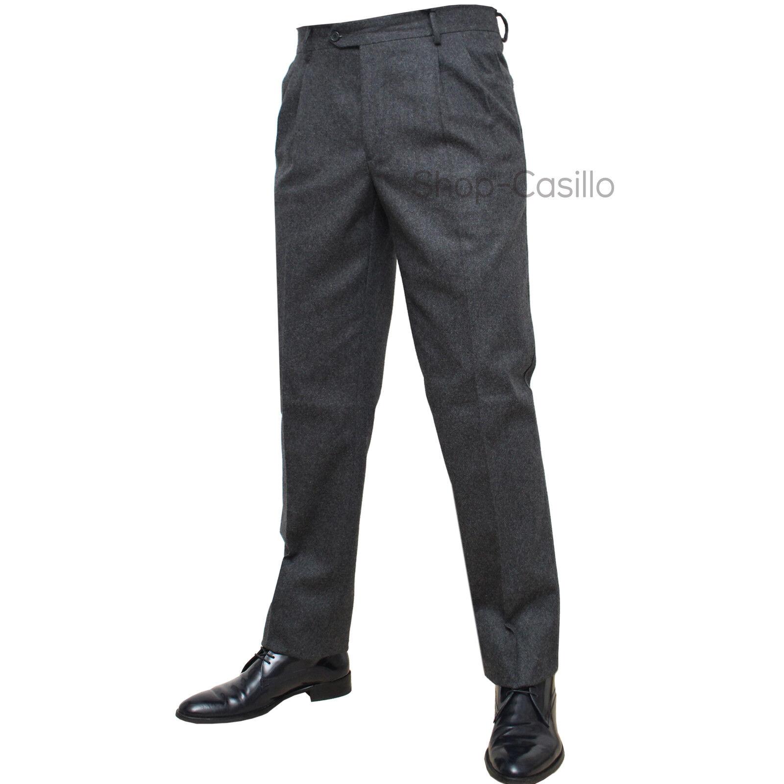 Pantalone Uomo Uomo Uomo Tasca America Classico Vita Alta Due Pence Flanella Jeans Maglia 7a77fc