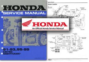 honda cb750 nighthawk service workshop repair manual cb 750 1991 rh ebay co uk honda nighthawk 750 service manual pdf 1982 honda nighthawk 750 repair manual