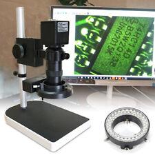 10 180x Hd Zoom Microscope 56 Led Ring Light 16mp Hdmi Camera For Pcb Repair