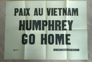 Poster-Political-Peace-IN-Vietnam-Humphrey-Go-Home-The-Communist-Party-French