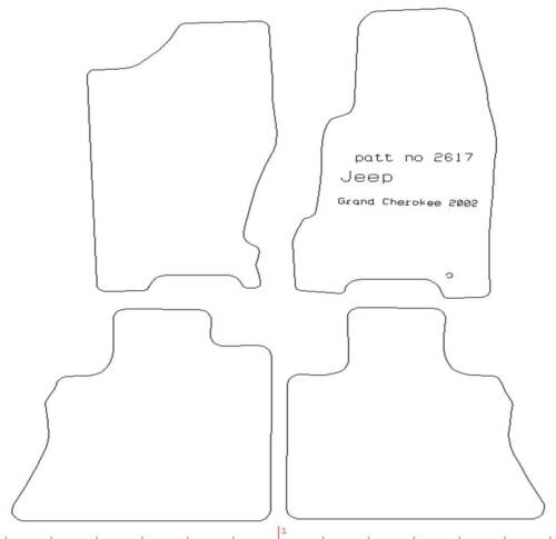 Jeep Grand Cherokee WJ Tailored Car Mats Genuine United Car Parts 2617 1999-05
