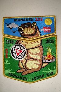 OA-MONAKEN-103-JUNIATA-VALLEY-2-PATCH-GROUNDHOG-GMY-100TH-ANN-NOAC-2015-FLAP