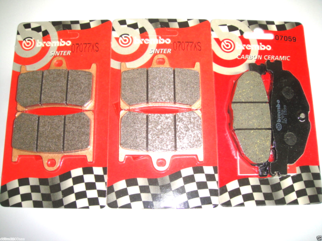 Set Front Brake Pads+Rear BREMBO 07077XS 07059 T-Max 500 2010