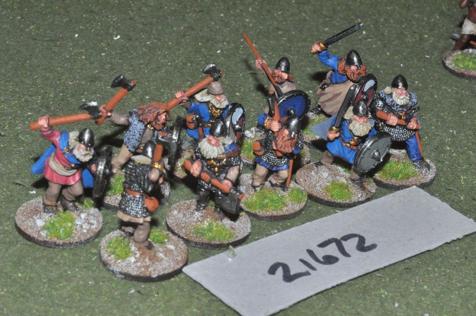 25mm dark ages   viking - raiders 10 figs infantry - inf (21672)
