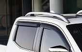Nissan-Navara-NP300-D23M-Double-cap-Window-Wind-Rain-Deflectors-Set-KE8004K010
