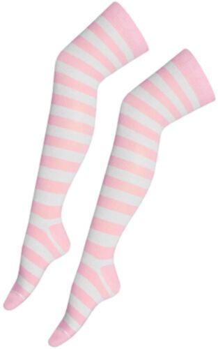 Le donne a righe sopra il ginocchio Calze coscia alta bambina elastico OTK Calze FANCY DRESS