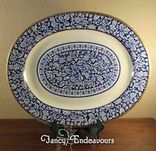 Huge T. C. Brown Westhead & Moore Blue & White Ironstone Platter