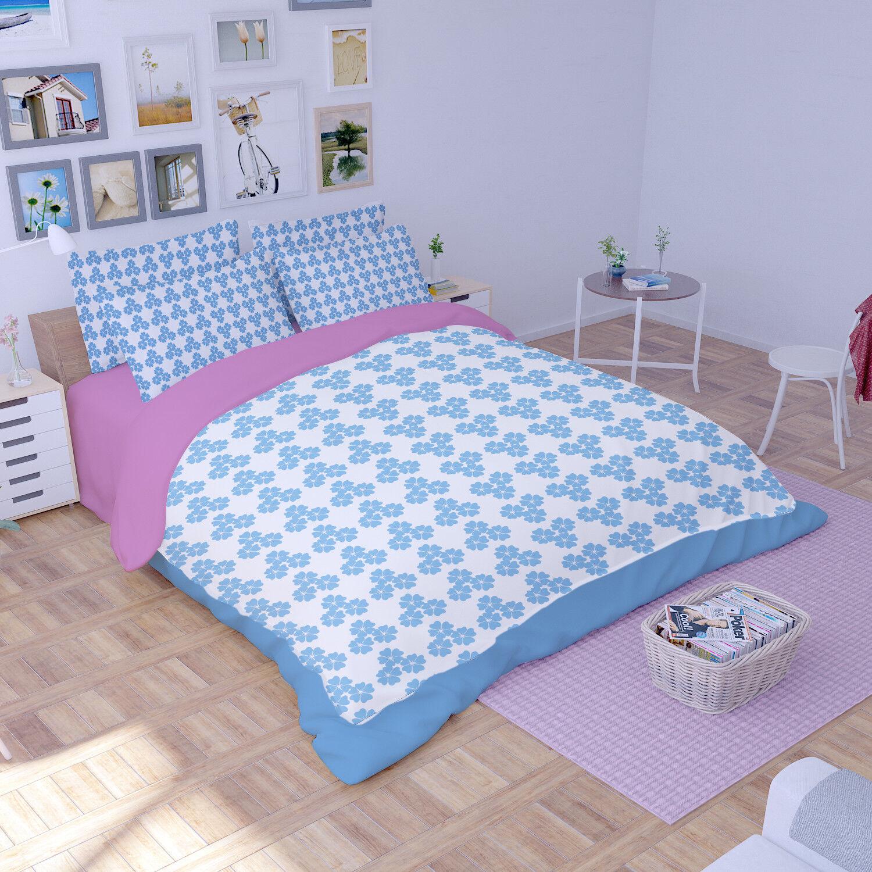 3D Flowers Girl Art 8 Bed Pillowcases Quilt Duvet Cover Set Single Queen King CA