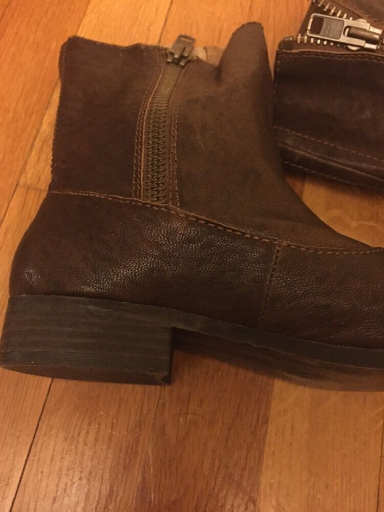 Steven Braun Genuine Leder Booties Zipped On On On Both Sides Sz 8 9c80f6