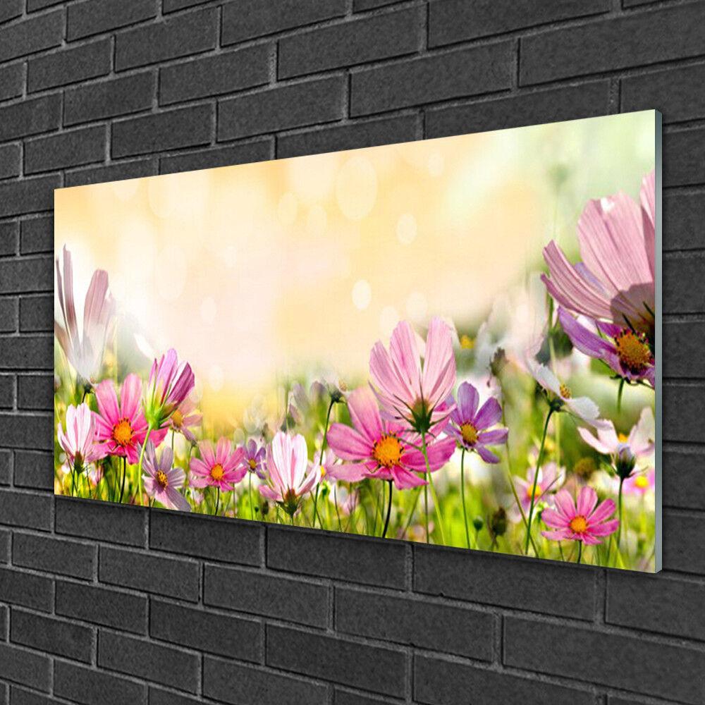 Wandbilder aus Plexiglas® 100x50 Acrylglasbild Blaumen Natur