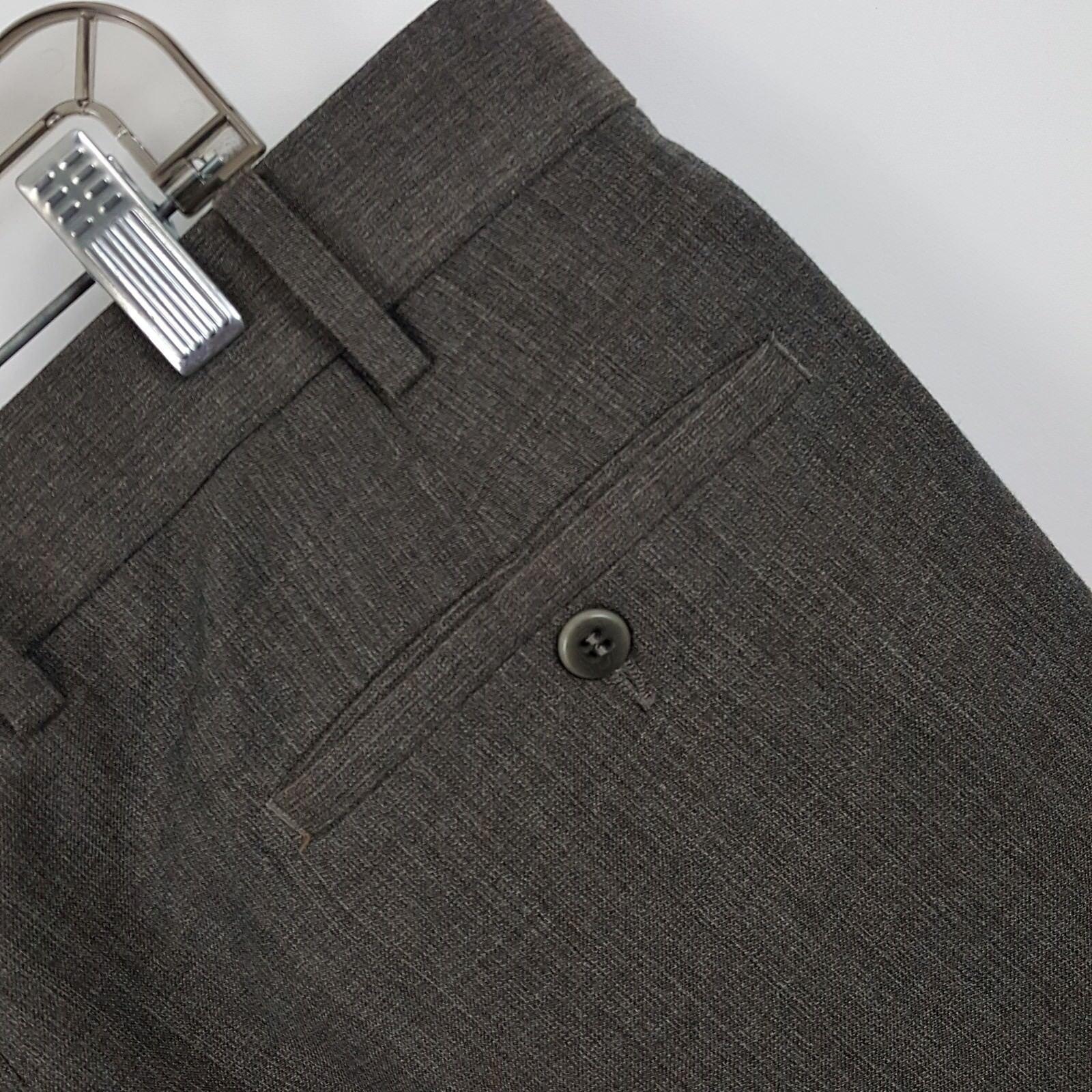 Zanella Bob Brown Pleated Wool  Men's Dress Pants Size 36 x 27