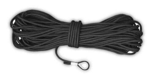 30m Angler Ankerleine schwarz 6mm PEs Kausche 6374