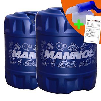 40 Liter MANNOL 2-Takt Plus TC Motoröl Motorradöl Motor ÖL 2x Ablasshahn