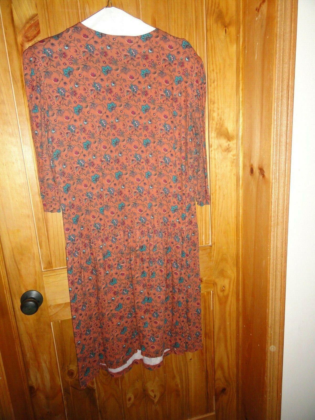 Woman's Venezia Dress Size 28W Rust/Turquoise - image 2