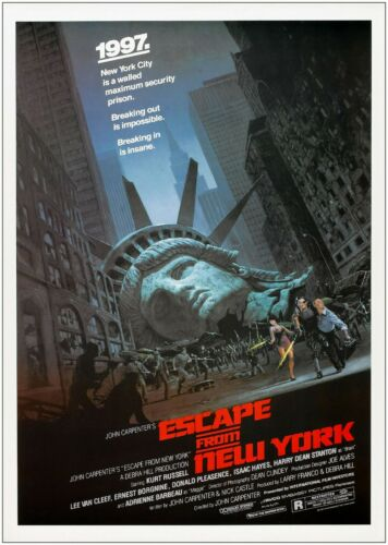 Escape From New York Classic Movie Large Poster Art Print Maxi A0 A1 A2 A3 A4