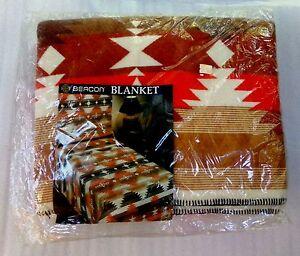 NEW-Vintage-Beacon-Acrylic-Southwestern-Navajo-Colorful-Twin-Full-Blanket-72x90