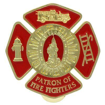 Patron Saint of Firefighters Visor Clip