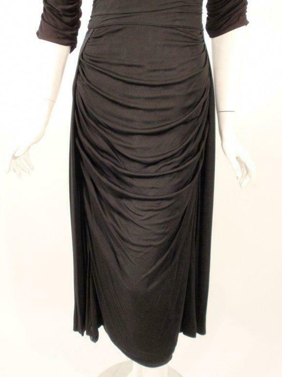 CEIL CHAPMAN Black Ruched Cocktail Dress with 3/4… - image 6