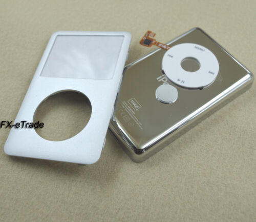 Silver Faceplate Housing Case Cover Clickwheel for iPod 6th Thick Classic 160GB