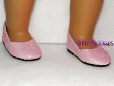 Glitter Pink Slip On Shoes 18 in Doll Clothes Fits American Girl