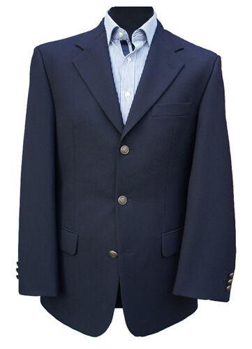 NEW - Navy bluee Single Breasted Blazer 44  Long (RRP )