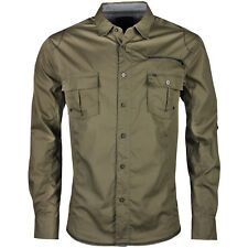 d5074b0de item 2 New Mens Military Surplus Style Shirt Army Raw Long Sleeve Button Up  Cotton Top -New Mens Military Surplus Style Shirt Army Raw Long Sleeve  Button Up ...
