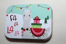 Christmas Gift Card Tin FA-LA-LA LLAMA