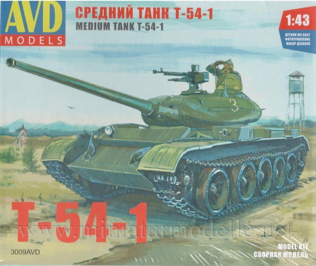 1 43 T 54 1 Panzer Kit AVD Models Models Models DDR Russische Warschauer Pakt Russian Tank NVA 1998bc