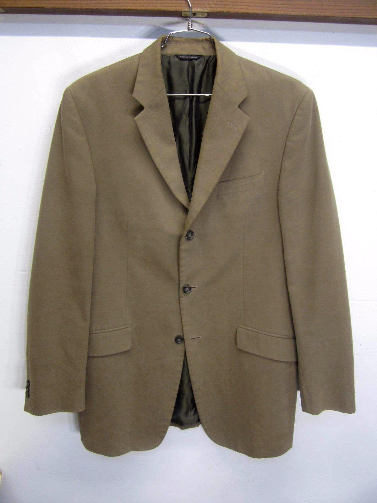 EUC  Banana Republic Blazer Sport Coat Braun 100% cotton 3 btn sz 42L