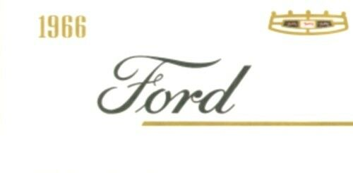 FORD 1966 Car Owner/'s Manual 66