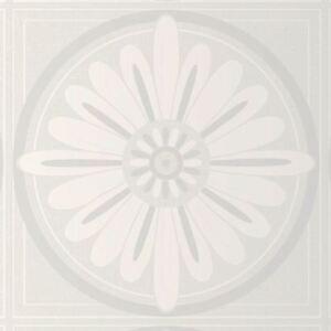 Glitzer Weiße Blüten Muster Strukturtapete - E70490