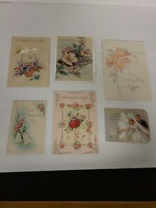 Vintage Greeting Card Lot of 7 Wedding Greeting Cards Pre-Owned Rare
